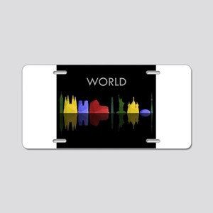 skyline world Aluminum License Plate