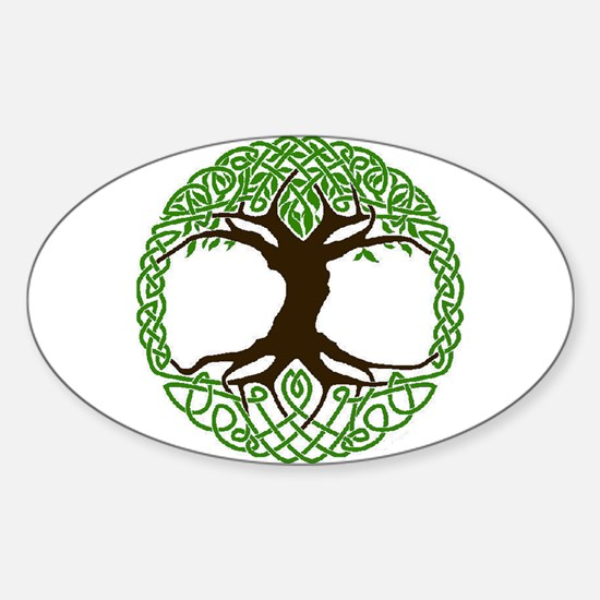Cute Celtic tree life Sticker (Oval)