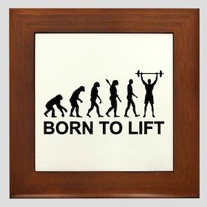 Evolution born to lift weightlifting Framed Tile