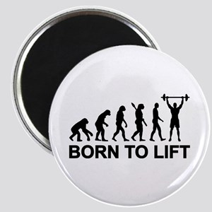 Evolution born to lift weightlifting Magnet