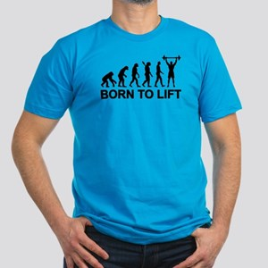 Evolution born to lift Men's Fitted T-Shirt (dark)