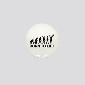 Evolution born to lift weightlifting Mini Button