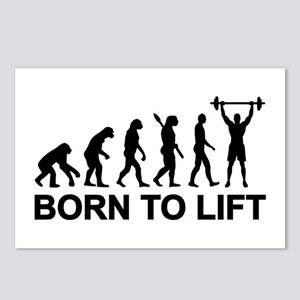 Evolution born to lift we Postcards (Package of 8)
