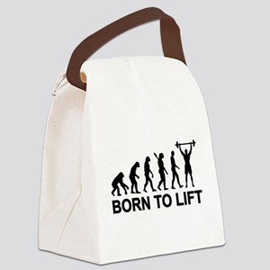 Evolution born to lift weightlift Canvas Lunch Bag