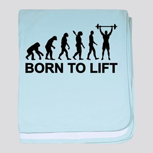 Evolution born to lift weightlifting baby blanket