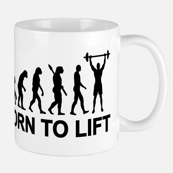 Evolution born to lift weightlifting Mug