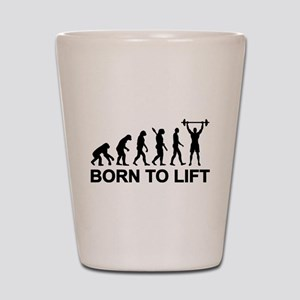 Evolution born to lift weightlifting Shot Glass