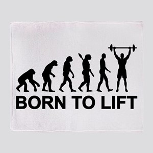 Evolution born to lift weightlifting Throw Blanket
