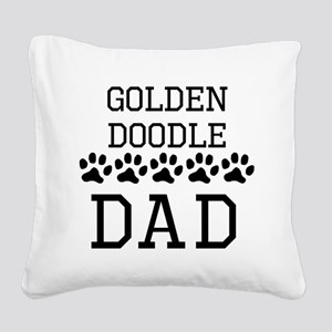 Goldendoodle Dad Square Canvas Pillow