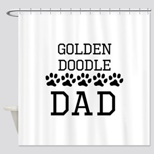 Goldendoodle Dad Shower Curtain