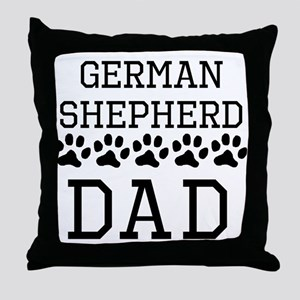 German Shepherd Dad Throw Pillow