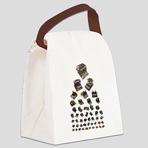 Typewriter eye chart Canvas Lunch Bag