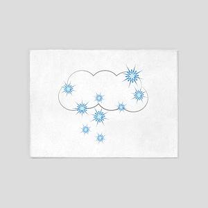 Snowy Cloud 5'x7'Area Rug