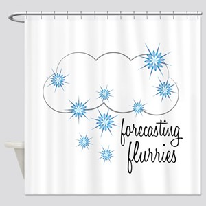 Forecasting Flurries Shower Curtain