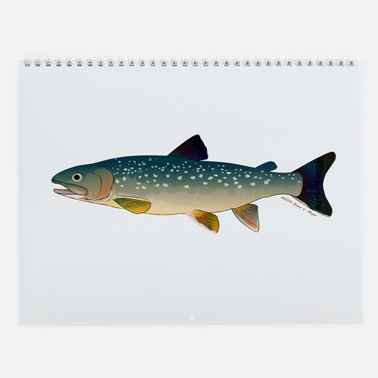 Trout Char Salmon Wall Calendar