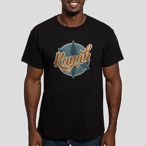 Kayak Emblem Men's Fitted T-Shirt (dark)