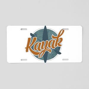 Kayak Emblem Aluminum License Plate