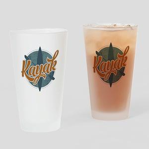 Kayak Emblem Drinking Glass