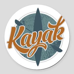 Kayak Emblem Round Car Magnet