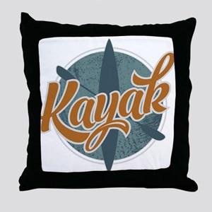 Kayak Emblem Throw Pillow