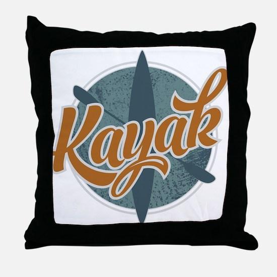 Kayak Emblem Throw Pillow