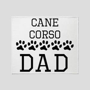 Cane Corso Dad Throw Blanket