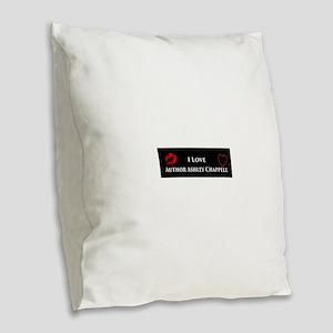 Ashley Chappell Burlap Throw Pillow