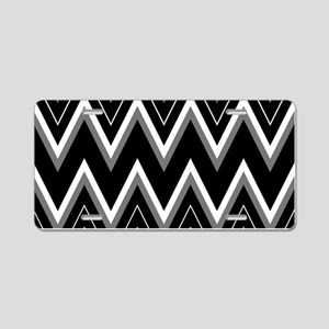 Gothic Chevron Pattern Aluminum License Plate