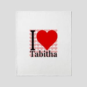 I (Heart) Tabitha Throw Blanket