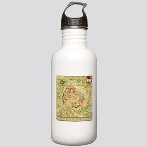 Vintage Map of Vienna Stainless Water Bottle 1.0L