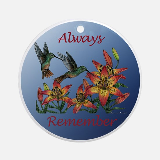 Always Remember - hummers with daylillies