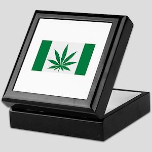 Marijuana flag Keepsake Box