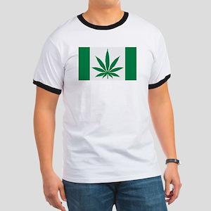 Marijuana flag Ringer T
