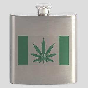 Marijuana flag Flask