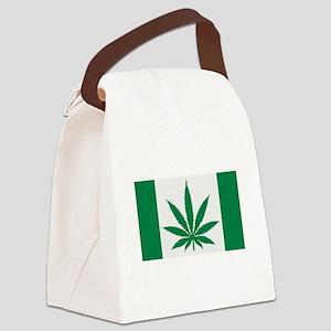 Marijuana flag Canvas Lunch Bag
