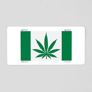 Marijuana flag Aluminum License Plate