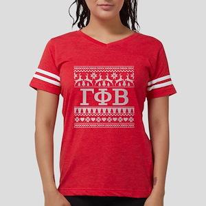 Gamma Phi Beta Ugly Christma Womens Football Shirt