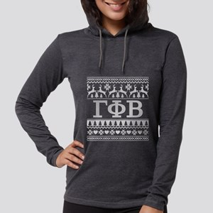 Gamma Phi Beta Ugly Christmas Womens Hooded Shirt
