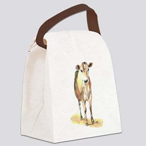 Cow brown Canvas Lunch Bag