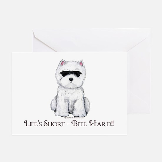 Life's Westie Too Greeting Cards (Pk of 10)