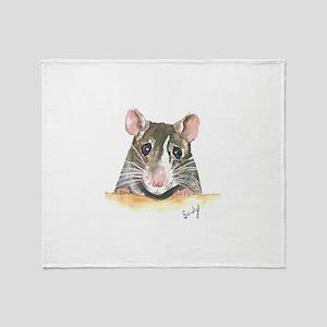 Rat face Throw Blanket