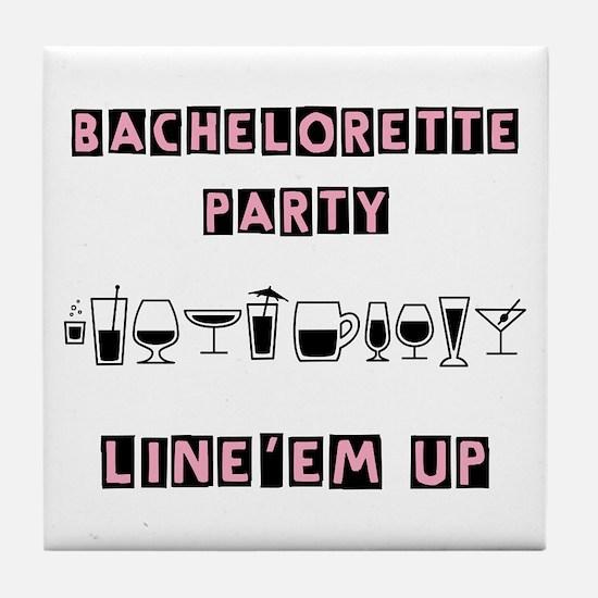 Bachelorette Party Tile Coaster