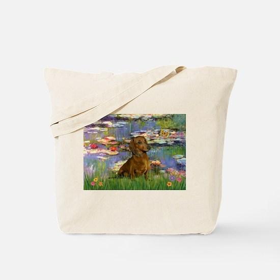 Lilies & Dachshund Tote Bag