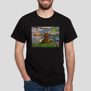 Lilies & Dachshund Dark T-Shirt