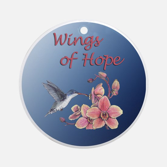 Wings of Hope - hummer with orchid