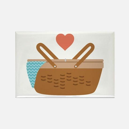 Picnic Heart Basket Magnets