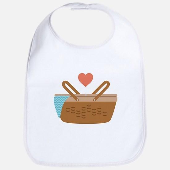 Picnic Heart Basket Bib