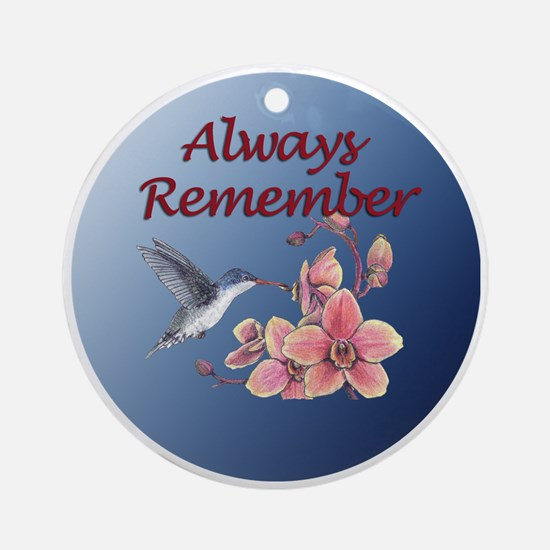 Always Remember - hummer with orchid