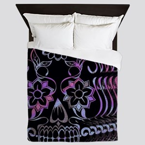 Ghastly Sugar Skull Queen Duvet