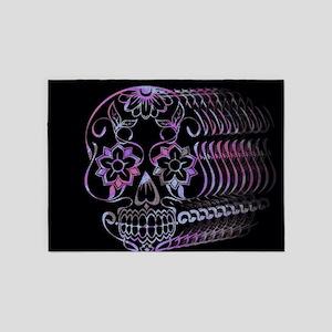 Ghastly Sugar Skull 5'x7'Area Rug